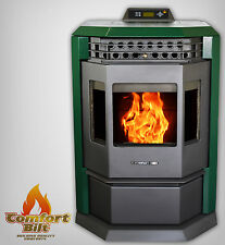 Comfortbilt HP22 Pellet Stove/Fireplace 50000 btu -Now Available in Mean Green!