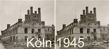 15 STEREOFOTOS von Köln,Frankfurt,Münster um 1945 vor und nach der Bombardierung