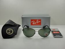 RAY-BAN POLARIZED SUNGLASSES RB3526 029/9A GUNMETAL & BLACK/GREEN LENS 63MM NEW!