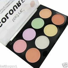 Technic Colour Corrector Palette Cream Concealer Green Yellow Lilac Highlighter