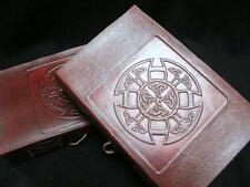 A5 CELTIC MANDALA - Handmade Leather Diary Journal Grimoire Book-of-Shadows