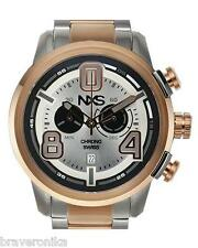 NXS SWISS CHRONOGRAPH PASTRANA COLLECTION SWITZERLAND DATE ROSE GOLD WATCH. NEW