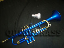 """TRUMPET_SILVER""""COLORED AWESOME SOUND_LOOKS BB PITCH BRASS MADE MP+MUTE"""