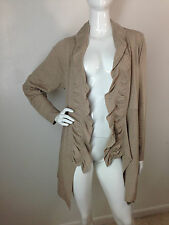 INC International Concepts Knit Cardigan Sweater Heather Beige Plus Size 1X NWT