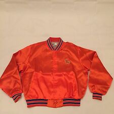 Vintage 80s Florida Gators Blue Satin Jacket Sz XL NCAA Swingster Starter
