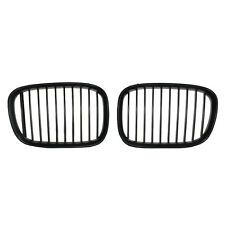 Black Front Kidney Grilles Cover for BMW E39 5 Series 528I/540I 1997-2000 Grills