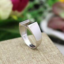 925 Sterling Silver Ring for Men 10X10mm Princess Cabochon Semi Mount Fashion