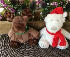 Bath & Body Works Reindeer and Bear Plush 8""