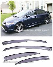 For 06-11 Honda Civic 4Dr Mugen 2 Style Light Tinted Purple Window Visors JDM SI