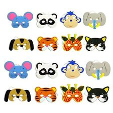 12pcs Childrens Kids Foam Jungle Animal Masks Dressing up Loot Party Bag fillers