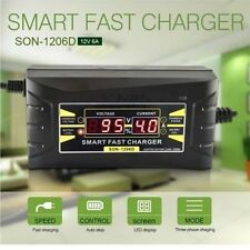 Souer Genuine 12V 6A Smart Car Motorcycle Battery Charger LCD Display US/EU Plug