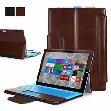Exact Suite PU Leather Kickstand Portfolio Case for Microsoft Surface Pro 3 BRN