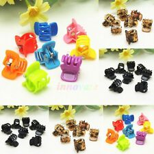 HOT! 10 Mixed Mini Small Plastic Black Hair Clips Hairpin Claws Clamps Beauty