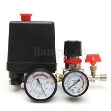 125PSI Compresseur d'air Pressostat &Vanne régulation de pression Contrôle Jauge