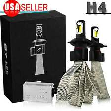 H4 9003 100W CREE LED Headlight Bulbs Hi/Low Beam 10000LM Lamp 6000K High Power