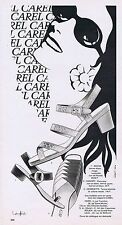 PUBLICITE ADVERTISING 015 1968 CAREL chaussures dame par Langlais