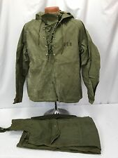 Original WWII US Navy Foul Weather Deck Jacket & Coveralls