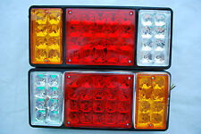 PAIR 24 V LED REAR TAIL STOP LIGHTS FOR HORCE VAN, BUS, LORRY CHASSIS TRUCKS