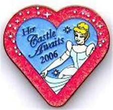 CINDERELLA HEART Glitter HER CASTLE AWAITS 2006 ANIMATION Gallery LE Disney PIN