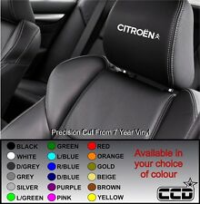 NEW CITROEN CAR SEAT / HEADREST DECALS - LOGO BADGE  Vinyl Stickers -Graphics X5