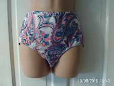 SIZE 12 BLUE, PINK AND WHITE  BIKINI BOTTOMS BY WAREHOUSE