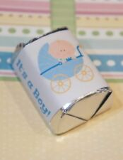 30 Baby Shower Its a Boy Stroller Hershey Candy Nugget Wrappers Stickers