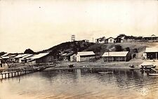 Real Photo Postcard Village Homes & Pier on Waterfront in Caimanera, Cuba~109471