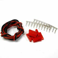 CL9F10 JST Female Tin Connectors x 10 & 1m 18AWG Black Red Battery Repair 6v