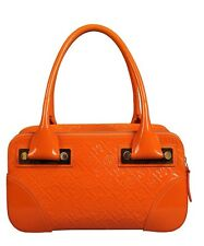 Authentic Silvio Tossi Orange Patent Leather Bag -NEW with tags RRP £549 BARGAIN
