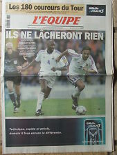 L'Equipe du 27/6/2000 - Euro Foot : Avant France-Portugal - Tour de France