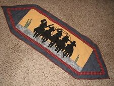 """New With Tags Patch Magic Multi-Color Shadow Rider Table Runner 52"""" x 16"""""""