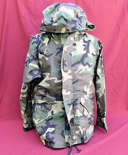 ECWCS Gore-Tex Cold Weather Woodland Camo Parka Jacket Size LARGE REG