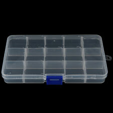 15 Compartments Fishing Fish Hook Bait Lure Box Tackle Storage Case Container CA
