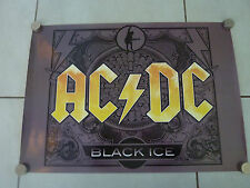 AC/DC BLACK ICE RARE ORIGINAL SHOP DISPLAY POSTER!