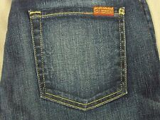 SEVEN 7 FOR ALL MANKIND WOMENS RELAXED SKINNY GENUINE INDIGO JEANS SIZE 29 NEW