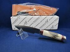 "BlackJack Model 125 Stag Fixed Blade Knife Sheath Mint In Box Made In USA - ""A1"""