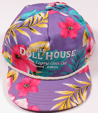 VTG 90S THE DOLL HOUSE FLORAL ALL OVER PRINT HIP HOP SNAPBACK HAT CAP BASEBALL