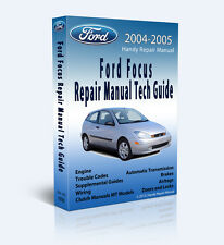 2004-2005 ZX4 ZX5 S Ford Focus Full Service Repair Manual Plus - CD Only
