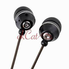 New Black 3.5mm 2M 6Ft Stereo In-Ear Earphone Headset Earbud for Phone PC MB
