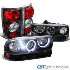 98-04 Chevy Blazer Black SMD LED DRL Projector Head Bumper Lights+Tail Lamps