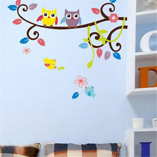 Tree Bird Wall Sticker Kids Room Cartoon Mural Decals Familly Home Decor