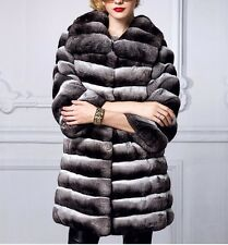 Chinchilla Fur Coat black velvet   Women's Brand New COPENHAGEN MEXA