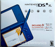 New Nintendo DSi XL Midnight Blue Handheld Console System.3 Pre-Installed Titles
