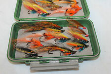"7.1/2 x 4"" ORVIS Hi impact Salmon Fly fly box with 24 Modern Hair wing flies"