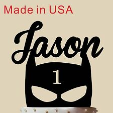 Customized Batman Mask Cake Topper, Acrylic, Birthday Gift with Name Age, USA 5""