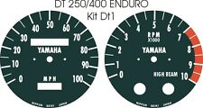 DT125 DT175 MX DT250 DT400 DT1 RT360 RT3 YAMAHA SPEEDO TACHO CLOCKS OVERLAYS