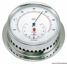 BARIGO Sky Series Thermometer Hygrometer Polished SS white dial 110x32mm