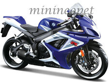 MAISTO 31153 SUZUKI GSX-R 750 BIKE MOTORCYCLE 1/12 BLUE / WHITE