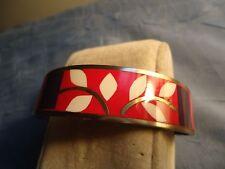Vintage Hecho En, Mexico Enamel Design Cuff Bracelet