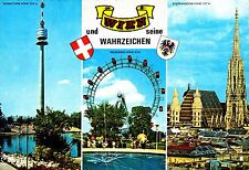 Wien und seine Wahrzeichen , Ansichtskarte, gelaufen